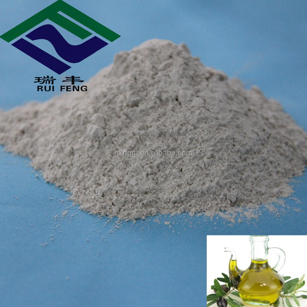 Acid Activated Bleaching Earth Bentonite Fuller earth refining olive oil