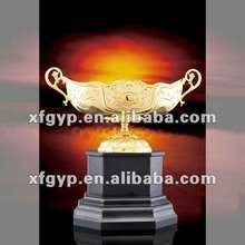 golden pure tin gold metal and resin trophy cup
