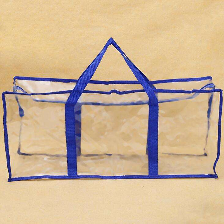 Plastic PVC Bag Blanket With Handle Carried Pillow Bedsheet Garment Packaging Bag