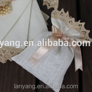 Rustic งานแต่งงาน burlap กระเป๋า christening favors baptism bombonieres burlap Baby Shower favors
