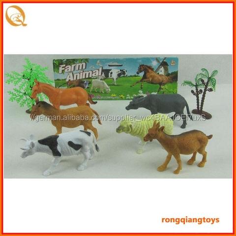 Bauernhof weichem kunststoff tier gesetzt spielzeug hund schaf pferd tiger kamel und Zebras mit Baum an9996161s-1