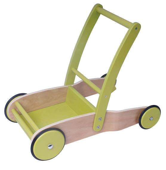 Wooden 4 Rad Lauf Fahrrad Doll Pram Baby Walker for Walking Learning