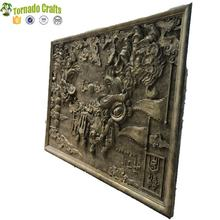 High Quality metal wrought copper craft fiberglass Relief Wall Sculpture for sale