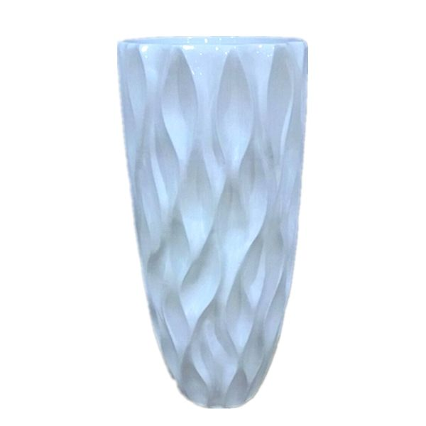 modern concise ripple grain floor large flower arrangement decor vase for hall and home