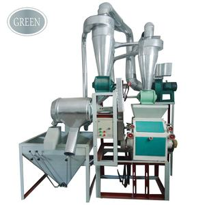 300-500kg/h high output small scale industrial fine flour milling plant maize corn wheat flour mill