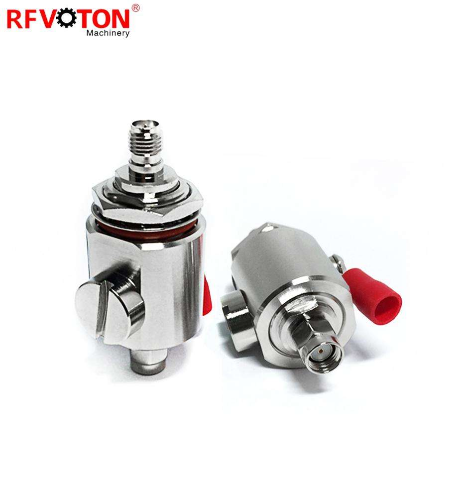 0-6G surge/lightning protector rp sma male to rp sma female bulkhead arrester/gas tube discharge