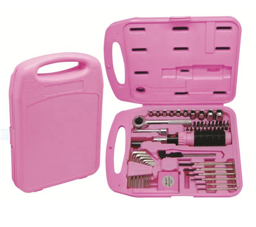 50pcs Pink Hardware Hand Tools And Hardware Tools Combo Kit tools and hardware