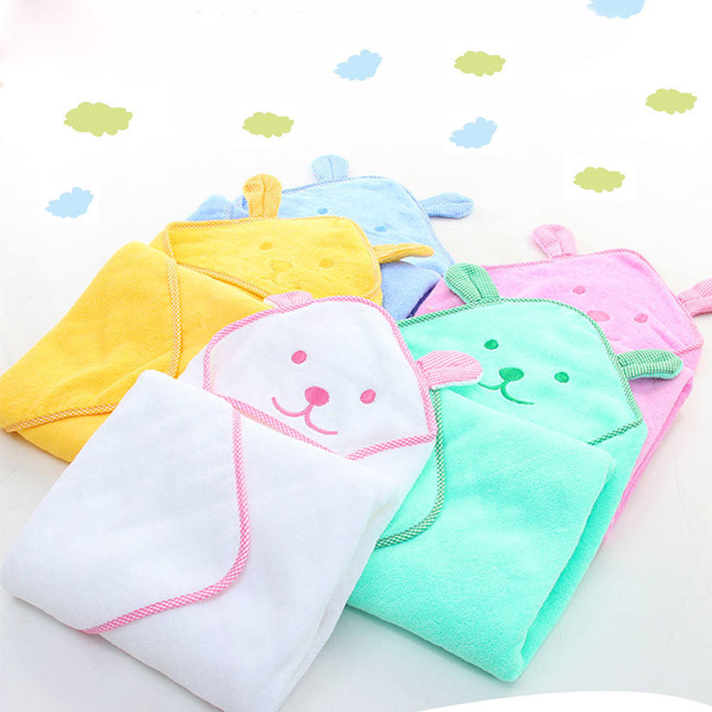 100% Cotton Super Absorption Animal Rabbit Cartoon Kid's Baby Hooded Bathrobe Wipe Towel Toddler Boy Girl Bath Towel