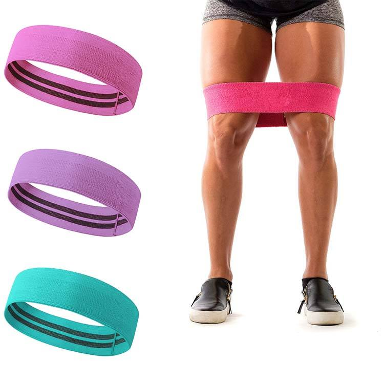 Ins Hot Factory Wholesale Non-rolling Hip Circle Resistance Band for Booty Shaping and Lifting