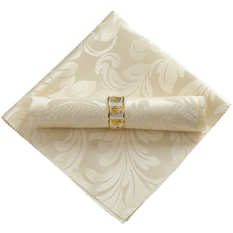 Factory stock dinner table napkin for wedding setting