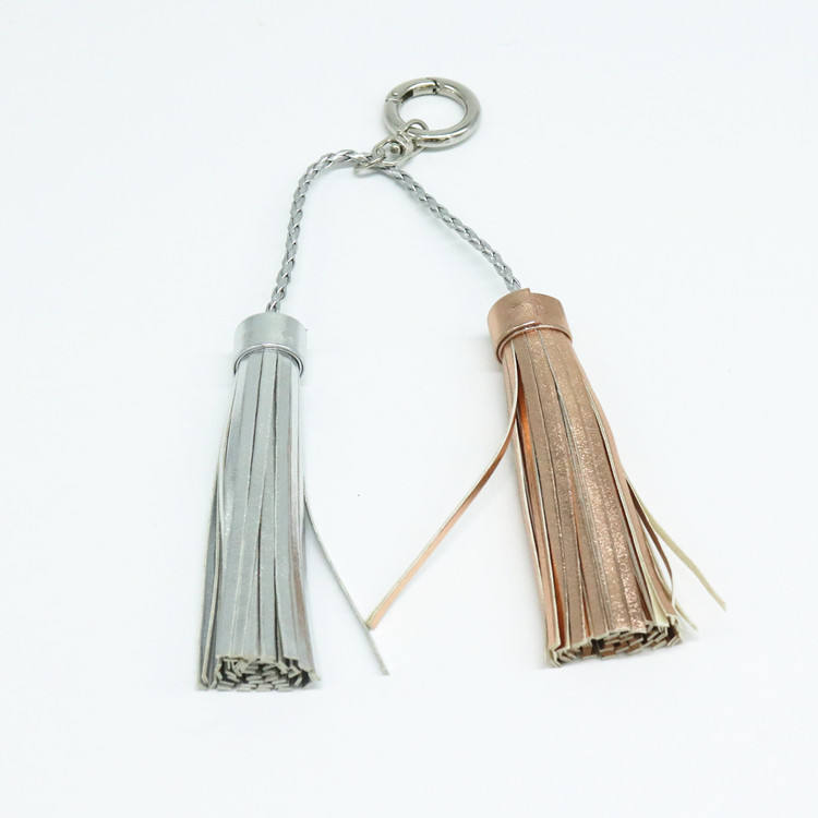 Premium Cheap Decorative Leather Keychain Tassel For Handbag