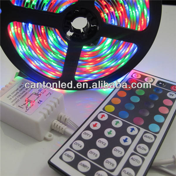 5m 300 LED SMD 5050 번지 RGB LED strip+44key IR 리모컨