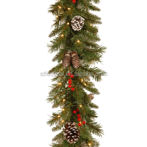 battery operated handmade hang christmas decorative garland