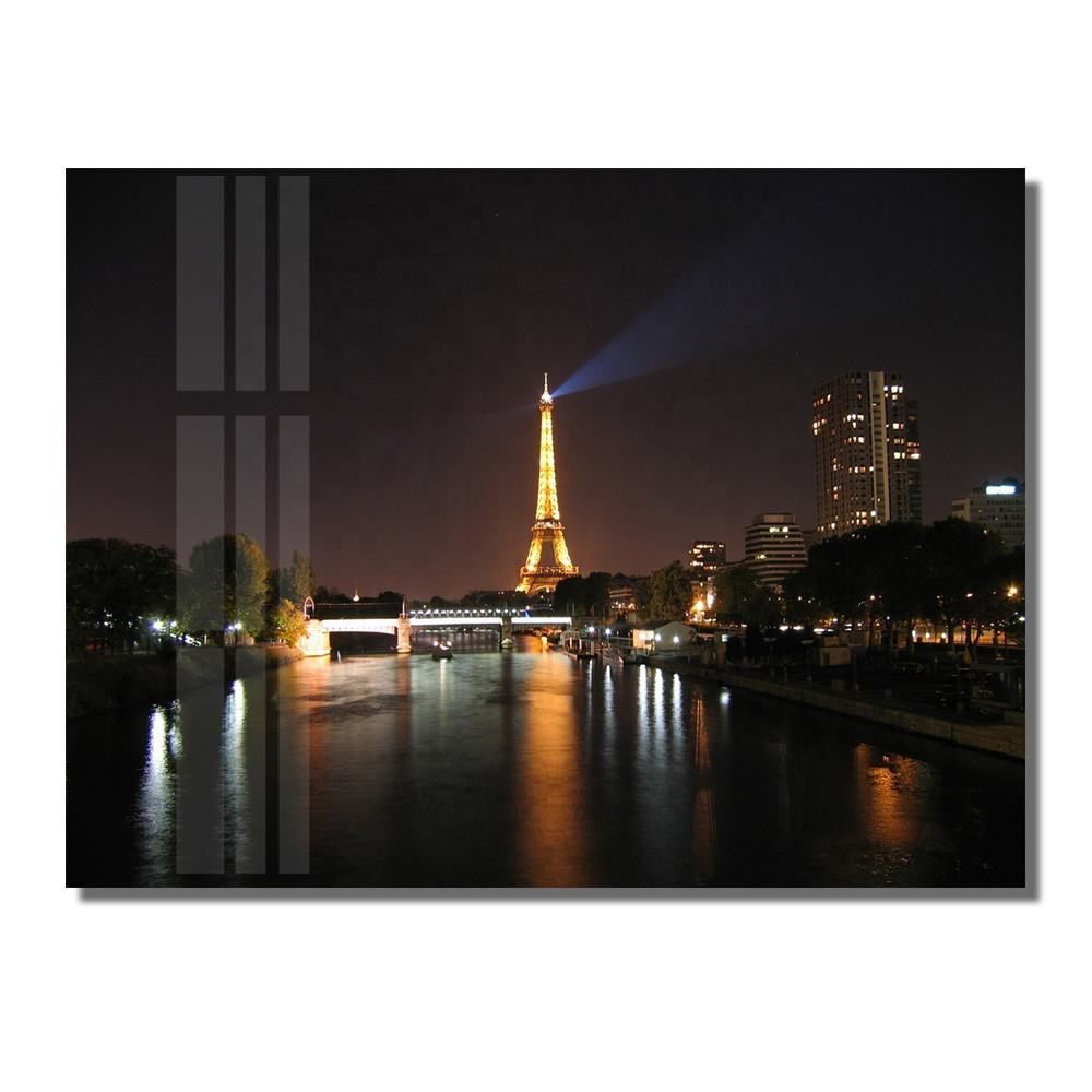 Paris Eiffel Tower Modern Decorative Wall Decor Art Photo Picture Print on Acrylic Glass