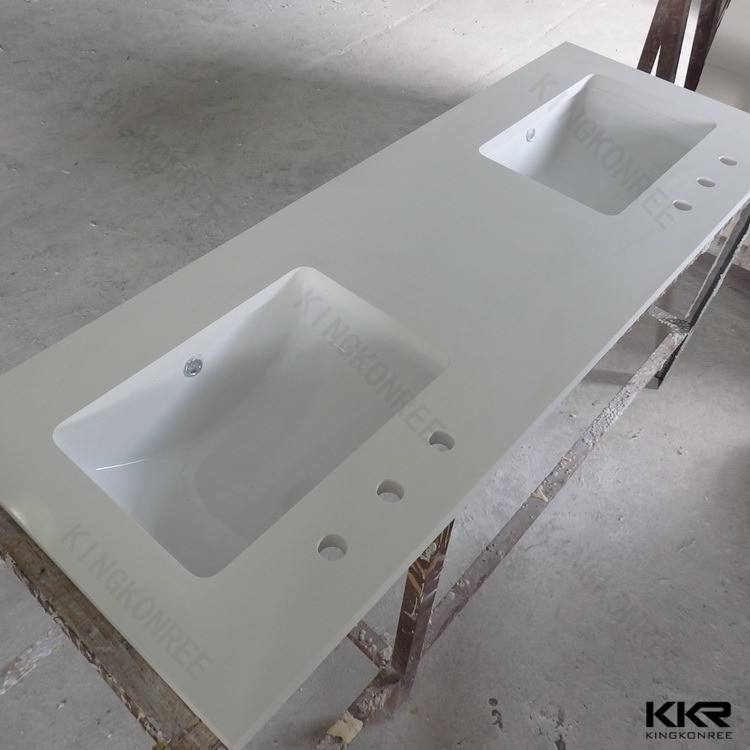 Kitchen Countertop Bathroom Acrylic Bathroom Stone Solid Surface Vanity Top