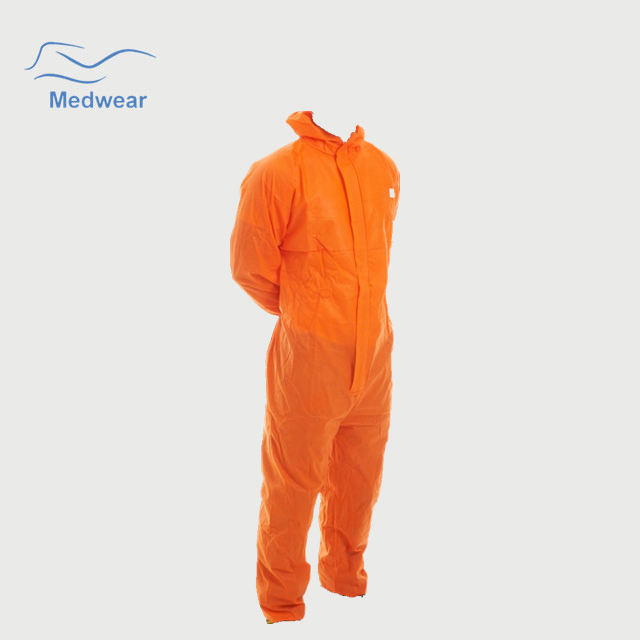 Anti-Static Boiler Suits Orange With Elastic Cuffs