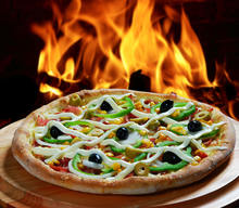 Burning baked Pizza stone for crispy crust grilled pizza