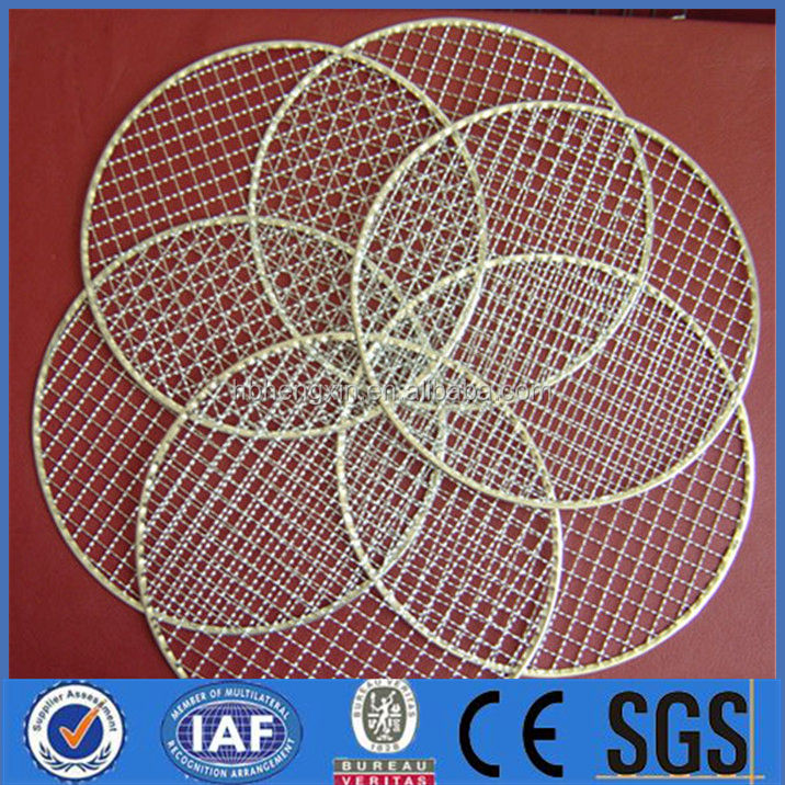 low price disposal bbq grill netting / wire mesh for electric grill