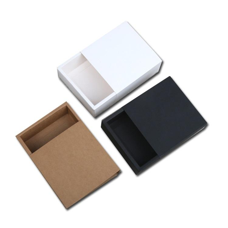 small gift packaging plain brown sleeve packaging boxes cardboard custom drawer box