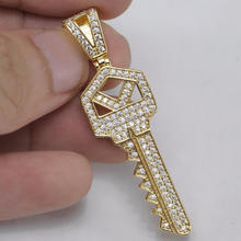 Hip hop iced out key jewelry pendant