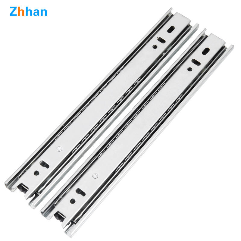 35mm wide drawer slide Three-fold track Thicken buffer Damping Silent guide cupboard Keyboard tray Slide rail