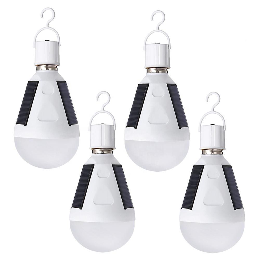 Hot Sale led emergency bulb 7W 12W e27 IP65 waterproof AC85-265V intelligent led emergency solar light bulb