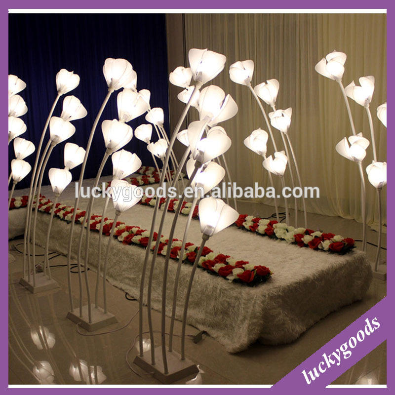 Luckygoods wholesale wedding decoration road lead with LED