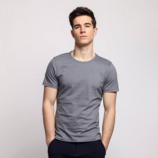 Customized high quality organic bamboo men T shirt