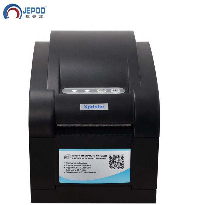 JEPOD XP-350B Inventory Use Pos80 Thermal Driver Download Portable 80mm Barcode Label Sticker Printer With Barcode Edit Software