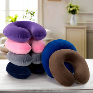 Super soft cover U shape memory foam pillow travel neck pillow