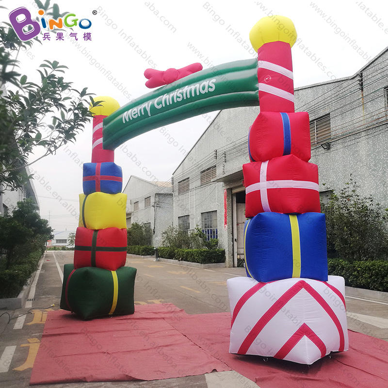 christmas decoration arch, inflatable christmas arch, gift box shaped christmas decoration