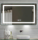 Bathroom Mirror LED Modern Wall Mounted Fogless Mirror with LED Lights Makeup Vanity Cosmetic Mirror