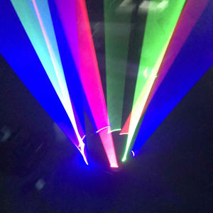 Laser light outdoor show equipment smart beam projector 3*3pcs spider full color rgb light