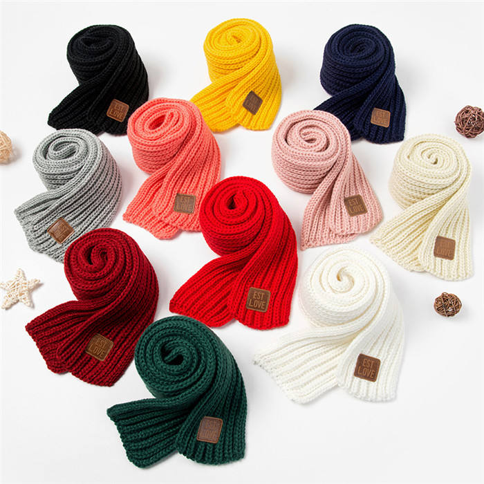 Knitted Wool Children Scarf Knitting Kids Baby Warm Thick Knitting Winter Scarf