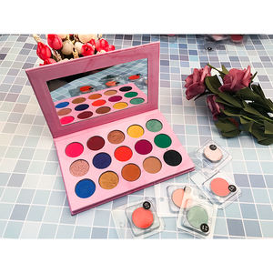 Custom Make up Own Brand Private Label Pigment Eye Shadow Palette Packaging