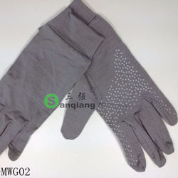 cheap price winter merino wool warm skid resistance gloves/g