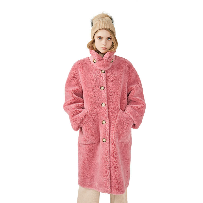 Mao Mao Fur Winter Clothes Real Fur Oversize Teddy Bear Coats Wholesale Sheep Skin Coat Woman
