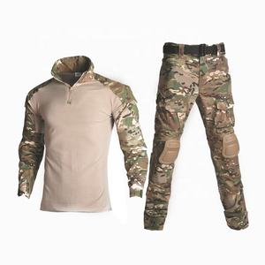 12 farben Outdoor Jagd Army Military ACU Typ Uniform Anzug Hosen Sets Kampf Airsoft Multi Camo Uniform Mit Pads