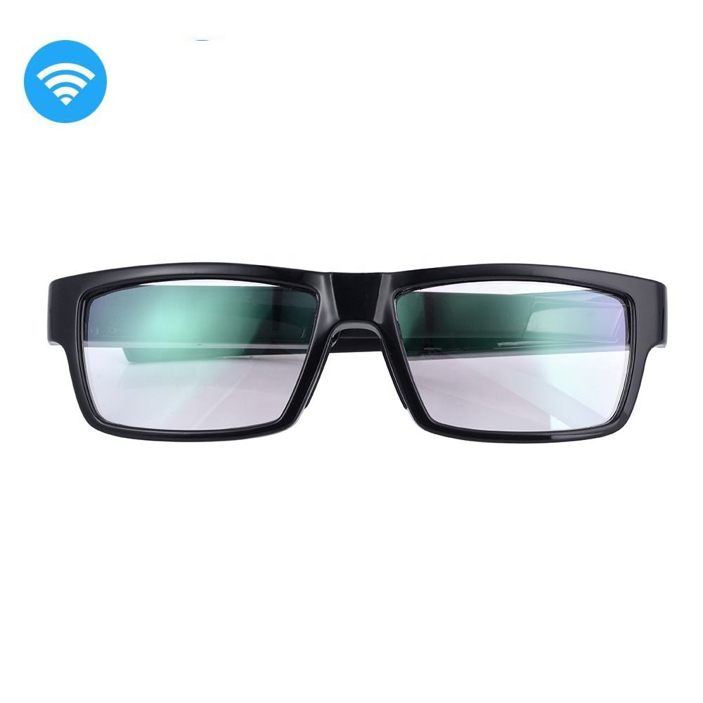 1080P FHD Auto Focus Lip SYNC Wireless WIFI Eyeglasses Hidden Spy Camera Video Glasses DVR for Iphone Ipad IOS Android Phones