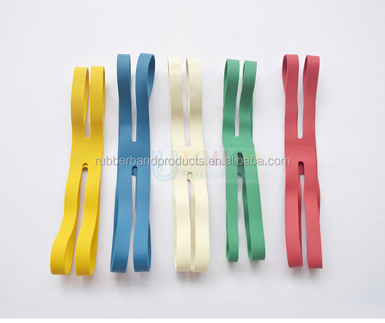 Customized Logo Natural Rubber Cross X H Shape Silicone Rubber Elastic Band For Gift Book Packing