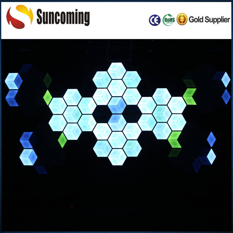 RGB 3D LED Wall Tile Ceiling Lighting Fixture Dj Lights for Disco