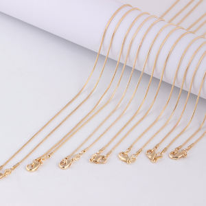 Latest Multi Size Personality Gold plated necklaces chain