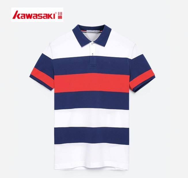 Custom design atmungs mann blank stripeshort polo t-shirt