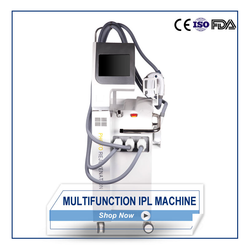 4 in 1 IPL/SHR/Raffreddamento RF/nd YAG combinata multifunctiobal macchina di bellezza