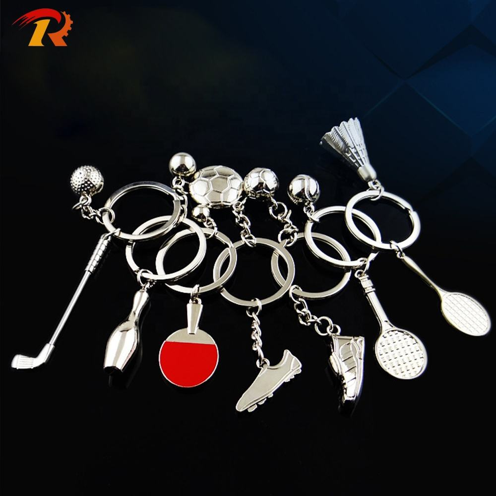 Hot Sale All Kinds Of Sports Balls Keychain Tennis Football Badminton Bowling