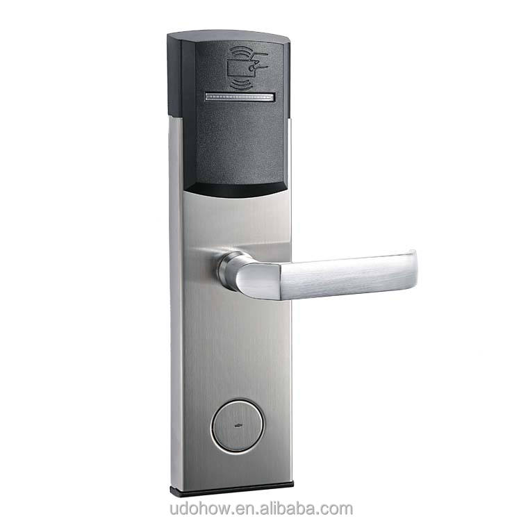original hotel lock factory security rfid magnetic card key handle hotel lock(DH8011-6YH)