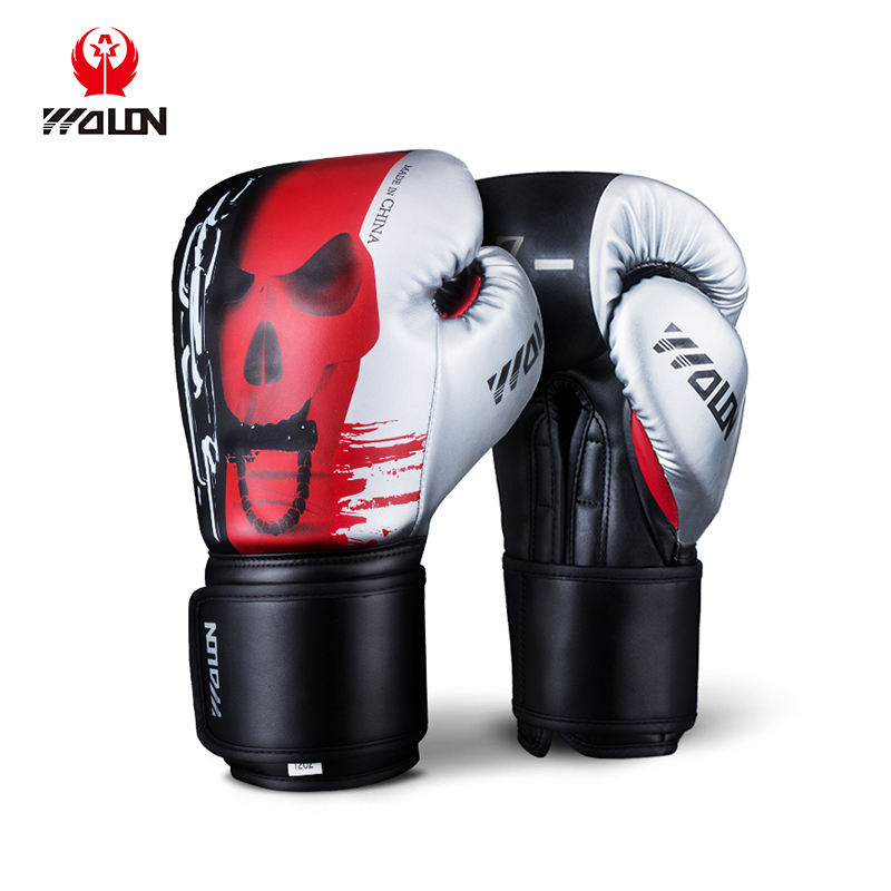 High Quality Professional Training Pu Leather Boxing Gloves