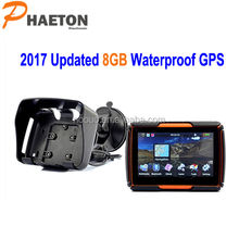 "GPS Navi 4.3"" Bluetooth waterproof radio mp3 player for motorcycle navigation w-40"