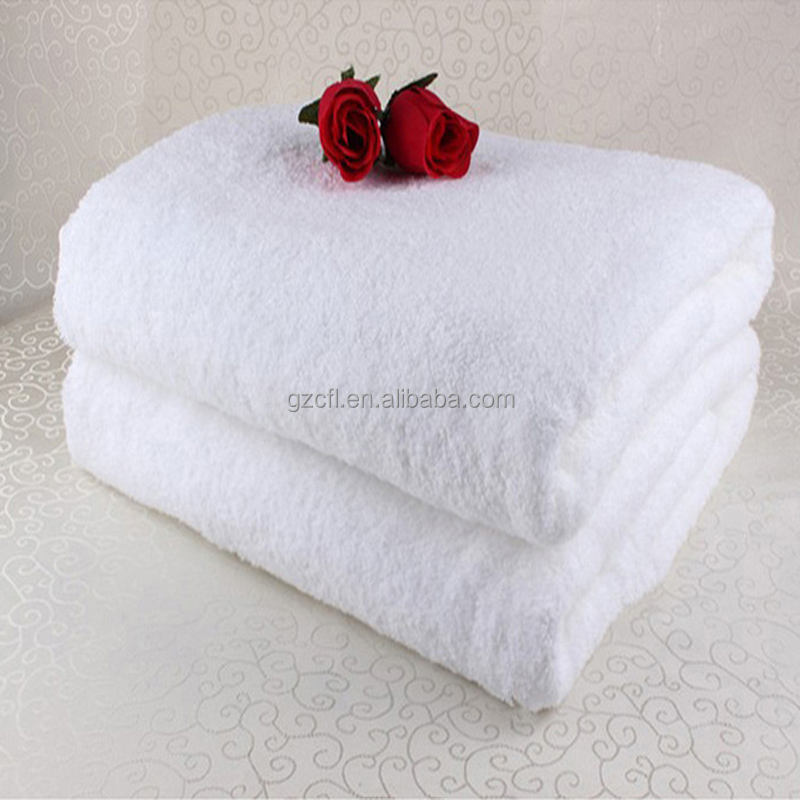 Wholesale 16S high quality luxury hotel white cotton bath towel 100