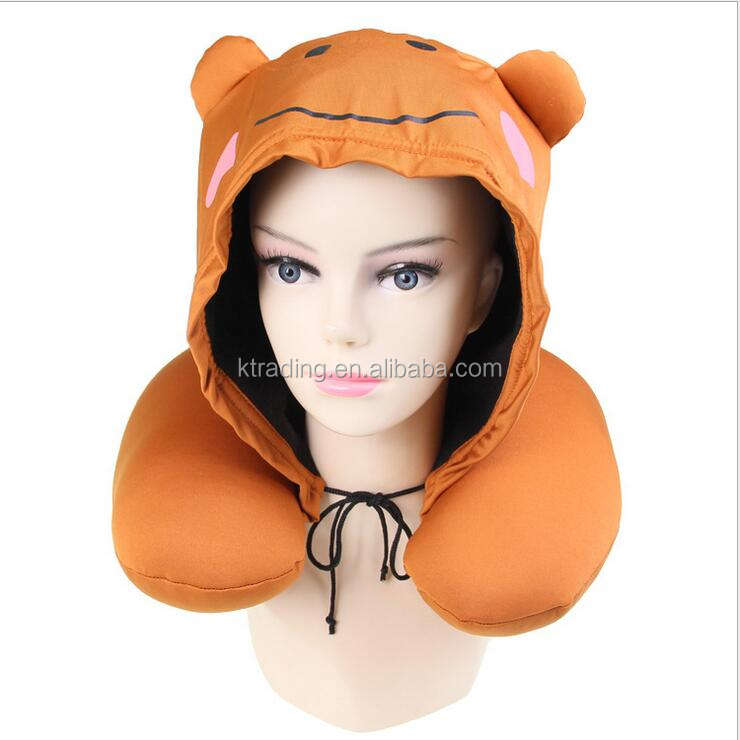 Customized memory foam hoodie pillow/micro beads hooded pillow